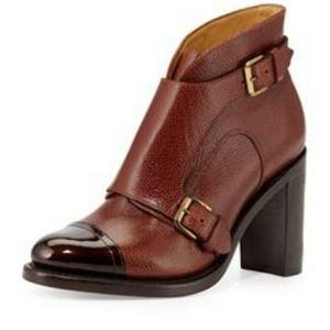 The office of Angela Scott Leather Booties